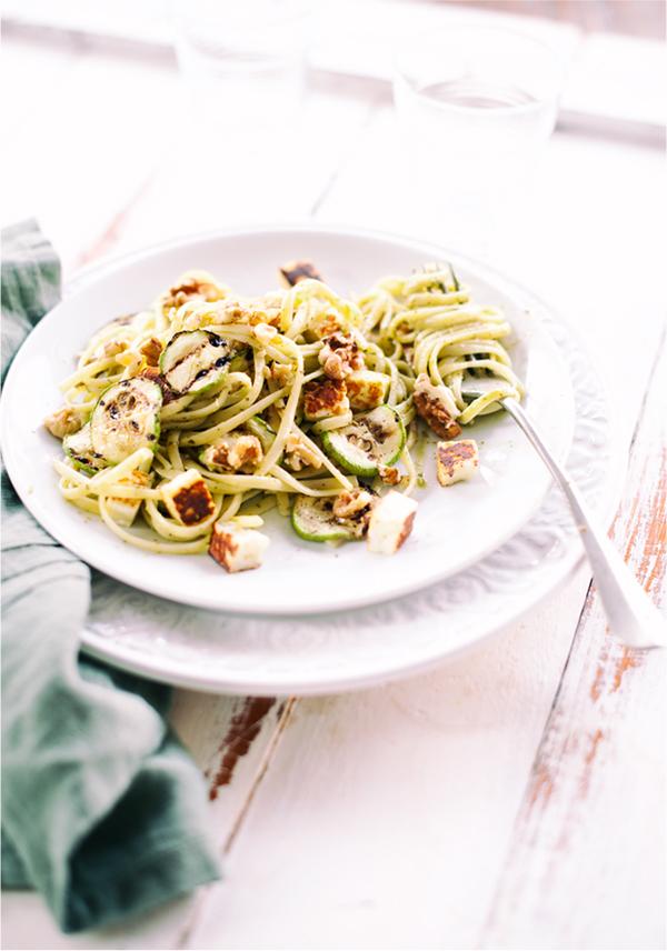 Pesto, Kabak, Ceviz Ve Hellimli Makarna